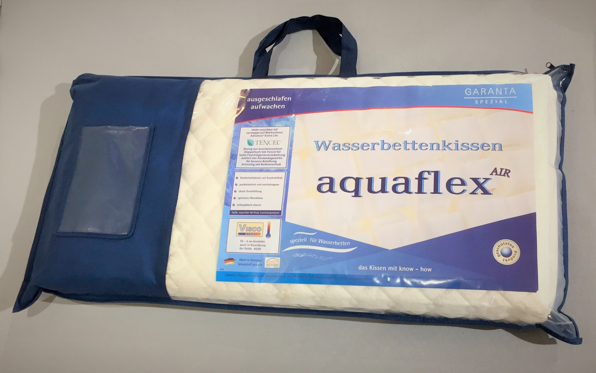 Garanta Aquaflex - AIR Wasserbettkissen 40x80 - Visco XS