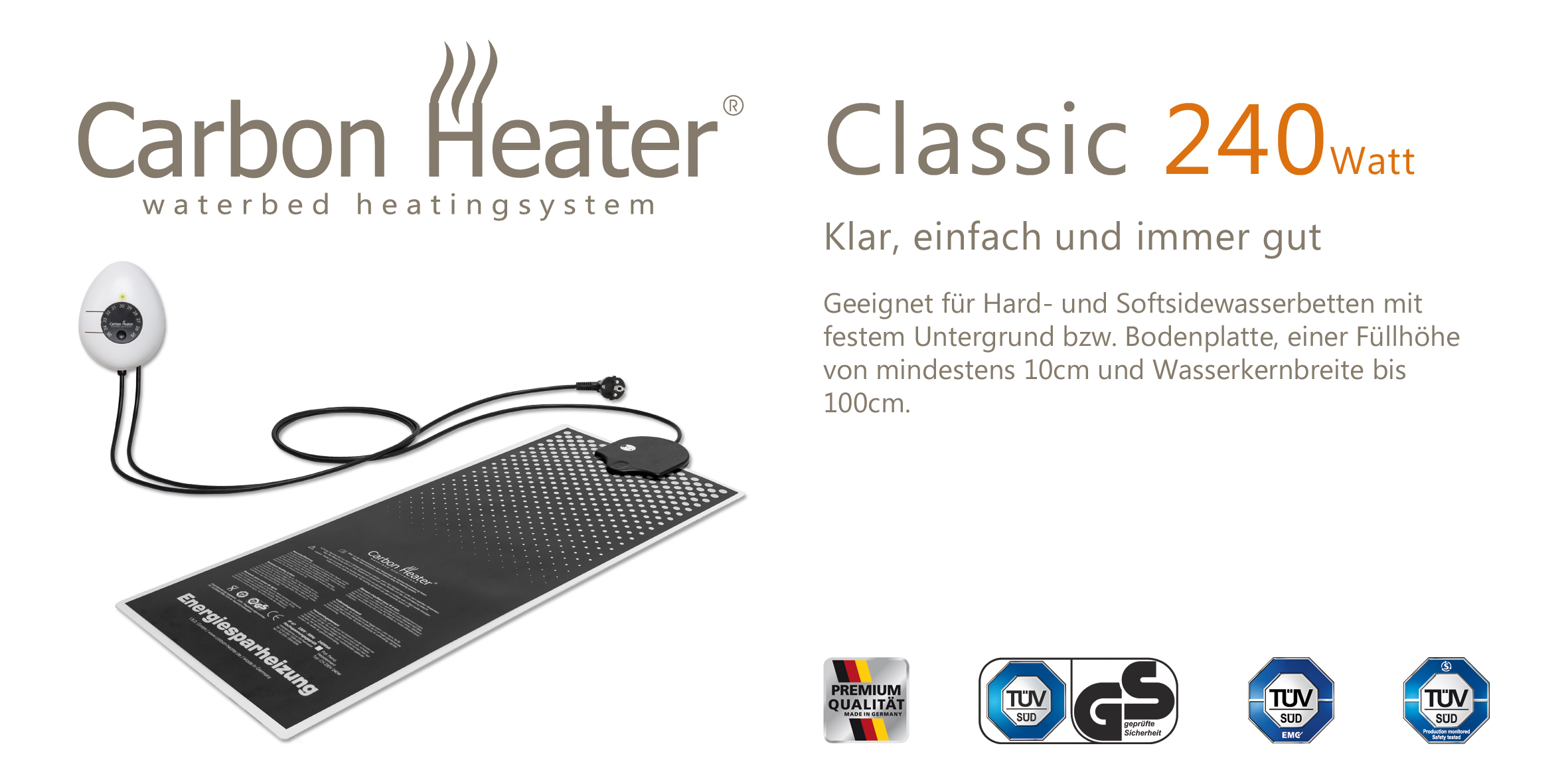 Carbon Heater Classic TBD 240 Watt analog